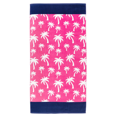 Hot Pink Palm Beach Towel - Ciao Bella Boutique