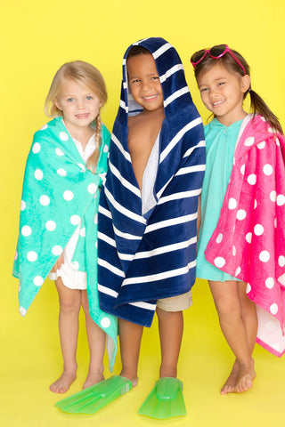 Kid's Hooded Towels - 3 Different Colors - Ciao Bella Boutique