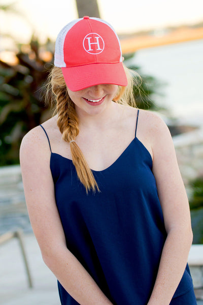 Trucker Hat - Coral - Ciao Bella Boutique