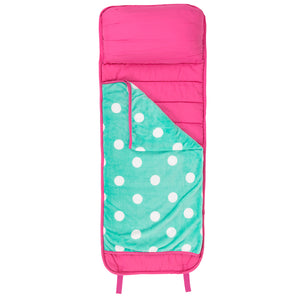 Hot Pink Mint Dot Nap Mat - Ciao Bella Boutique