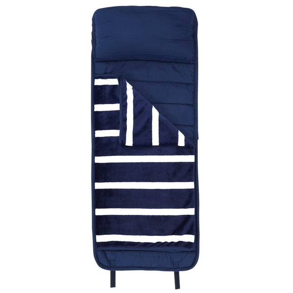 Stripe Navy Nap Mat - Ciao Bella Boutique