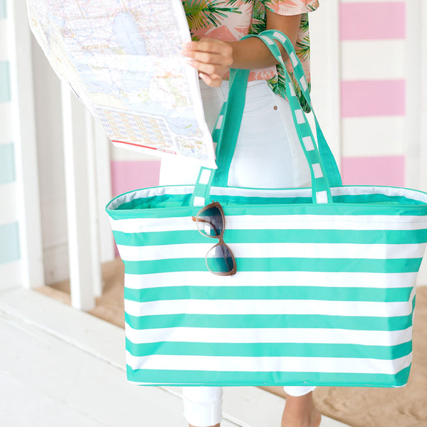 Stripe Ultimate Totes - 4 Colors - Ciao Bella Boutique