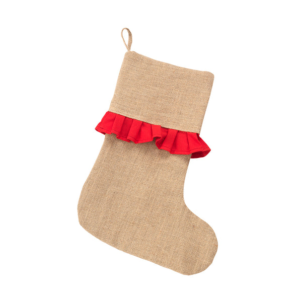 Red Ruffle Stocking - Ciao Bella Boutique
