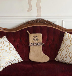 Leopard Ruffle Stocking - Ciao Bella Boutique