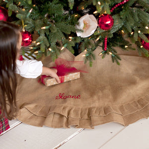Burlap Ruffle Tree Skirt - Ciao Bella Boutique