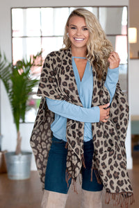 Kennedy Leopard Shawl Collection - 3 Leopard Shawl Colors - Ciao Bella Boutique