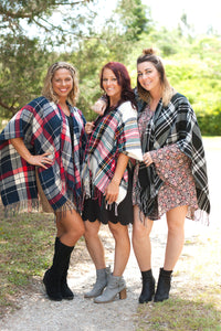 Kennedy Plaid Shawl Collection - 4 Plaid Shawl Options - Ciao Bella Boutique