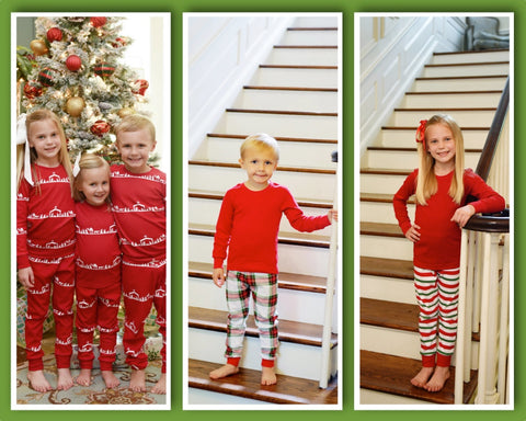 Organic Cotton Christmas Pajamas - Prints ** PRE-ORDER ONLY** - Ciao Bella Boutique