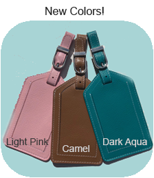 Leather Luggage Tags - 23 Colors - Ciao Bella Boutique
