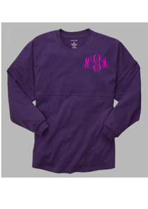Pom Pom Jersey Adult - Purple  *Monogram Front & Back* - Ciao Bella Boutique