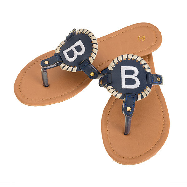 Interchangeable Disc Sandals - Navy - Ciao Bella Boutique