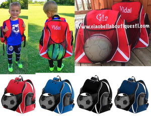 Tri-Color Ball Backpacks - 4 Colors - Ciao Bella Boutique