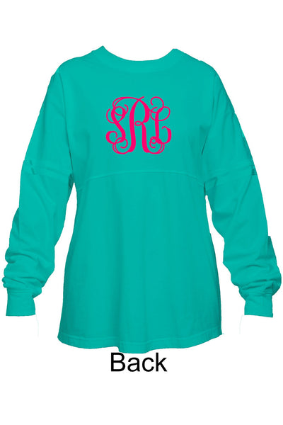 Pom Pom Jersey Adult - Fuchsia  *Monogram Front & Back* - Ciao Bella Boutique