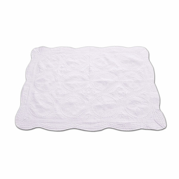 White Baby Quilt - Ciao Bella Boutique