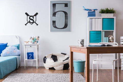 Home Plate Wood Monogram - Ciao Bella Boutique