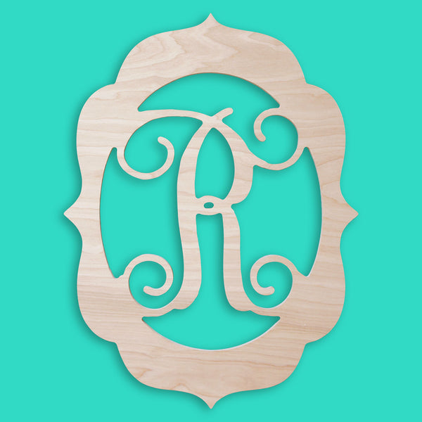Fancy Frame Wood Monogram - Ciao Bella Boutique