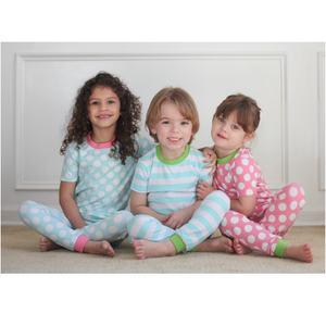 Two Toned Spring Colored Pajamas - 3 Colors - Ciao Bella Boutique