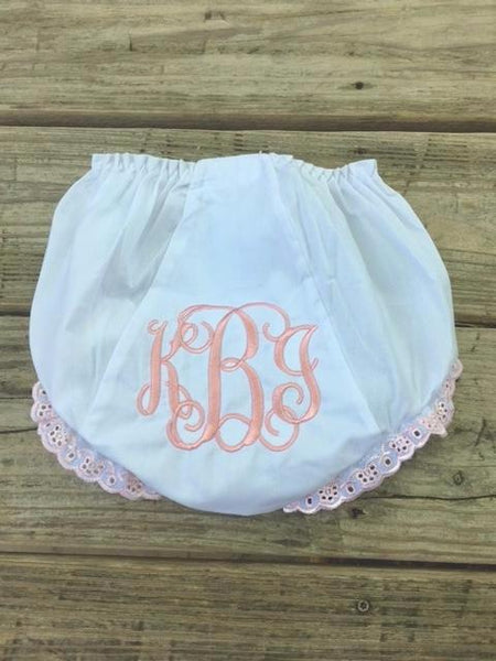 Monogram Bloomers - Pink Eyelet - Ciao Bella Boutique