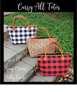 Carry All Totes - 3 Pattern Options - Ciao Bella Boutique