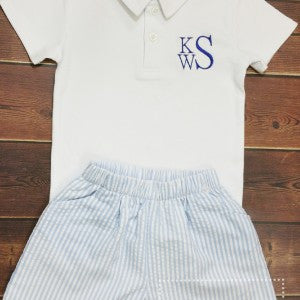 Boys Personalized Polo-4 Colors - Ciao Bella Boutique