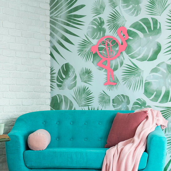Wooden Monogram Flamingo - Ciao Bella Boutique