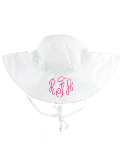 Kid Sun Protective Hat - White - Ciao Bella Boutique