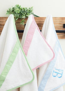 Seersucker Baby Hooded Towels - 4 Colors - Ciao Bella Boutique