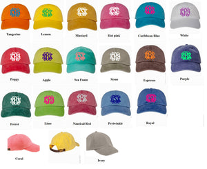 Monogram Faded Cap - 43 Cap Colors - Ciao Bella Boutique