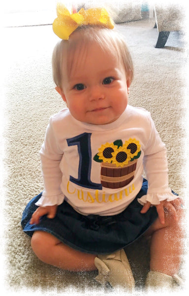 Barrel of Sunflowers Birthday Shirt - Ciao Bella Boutique