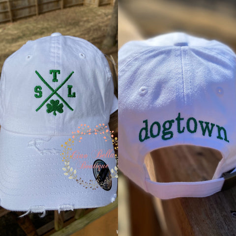 STL Shamrock Hat with dogtown - Ciao Bella Boutique