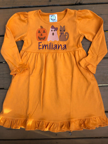 Customize Your Own Halloween/Fall Dress -  5 Color Dress Options - Ciao Bella Boutique