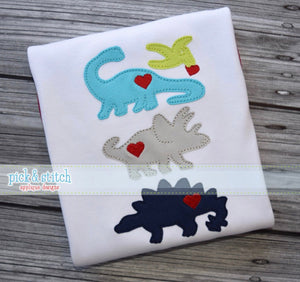Dinosaurs and Hearts Shirt - Ciao Bella Boutique