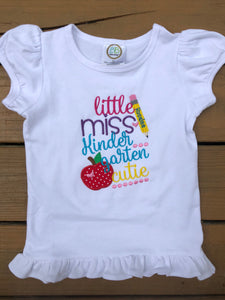 Little Miss Kindergarten Cutie Shirt - Ciao Bella Boutique