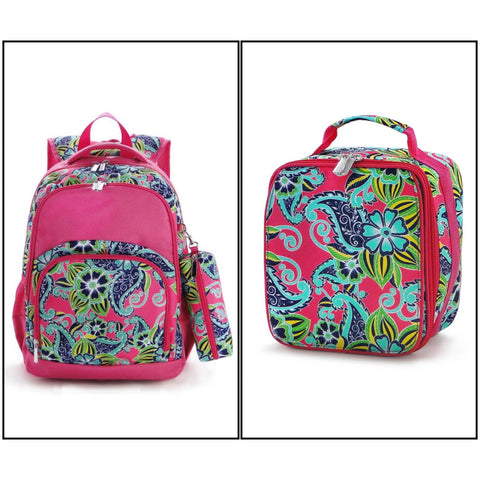 Comfort Backpacks with Pencil Case and Lunch Bag - Floral Swirl - Ciao Bella Boutique