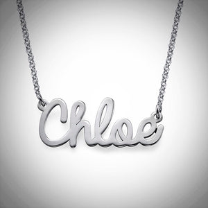 Chloe Name Necklace - Sterling Silver, Gold, or Rose Gold - Ciao Bella Boutique