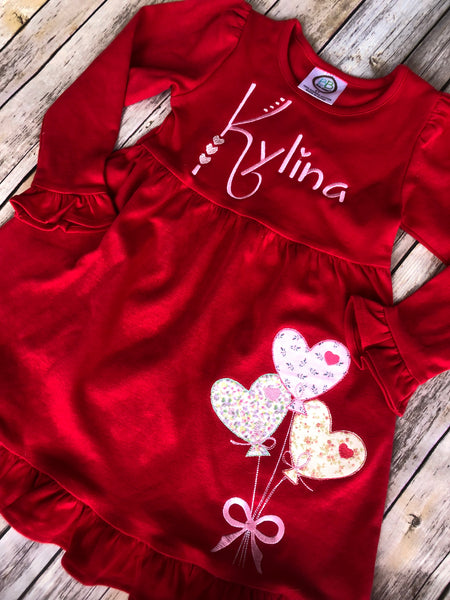 Heart Balloons Red Dress - Ciao Bella Boutique