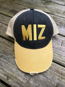 Mizzou Distressed Trucker Hat - Ciao Bella Boutique