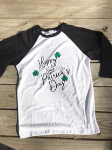 St. Patrick's Day Raglan Style Shirt - Child and Adult Sizes - Ciao Bella Boutique