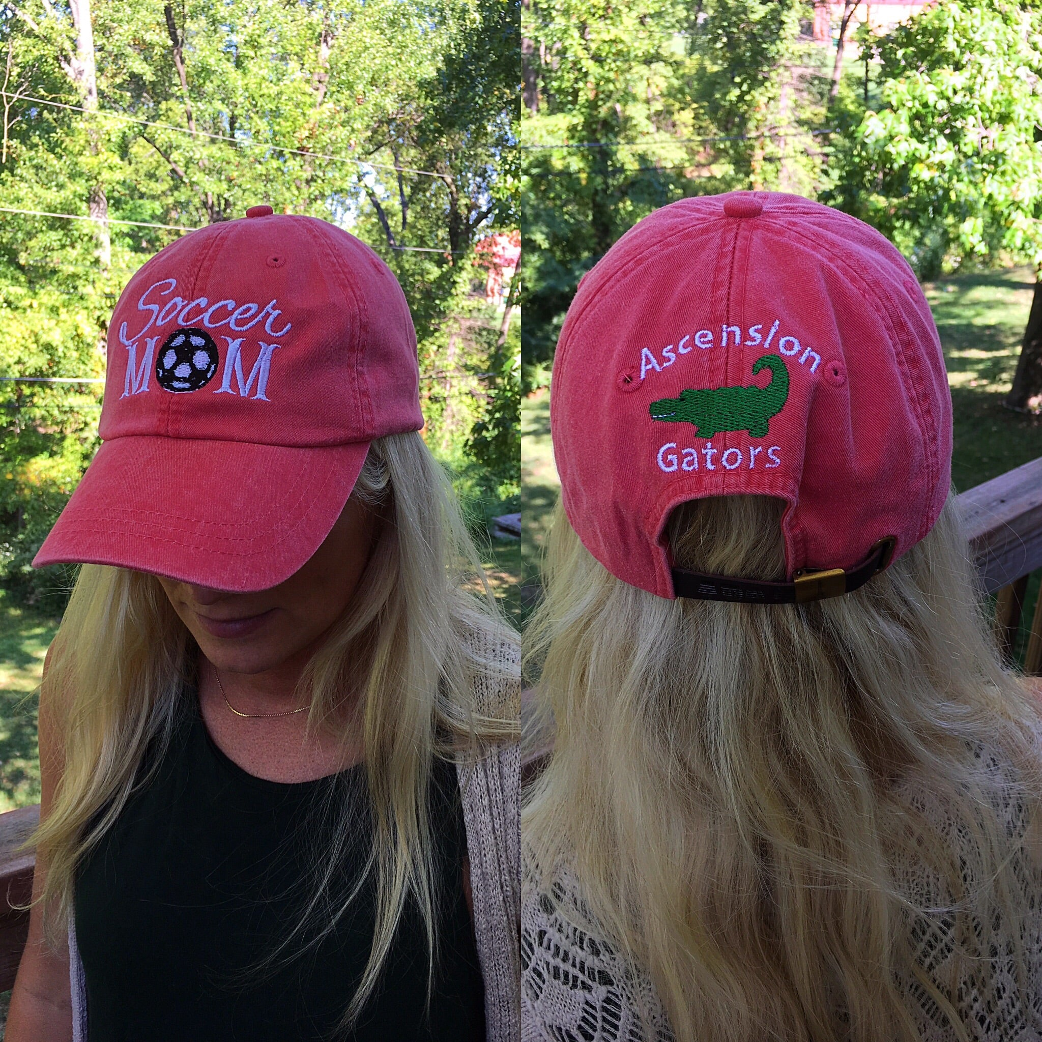 Soccer Mom Cap with Ascension Gators on Back - Faded Red - Ciao Bella Boutique