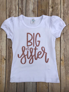 Big Sister Rose Gold Sparkle Shirt - Ciao Bella Boutique