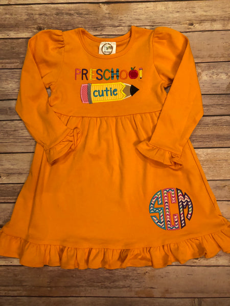 Preschool Cutie Dress - 10 Different Dress Colors - Ciao Bella Boutique