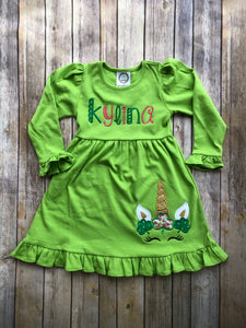Unicorn Shamrock Dress - Ciao Bella Boutique
