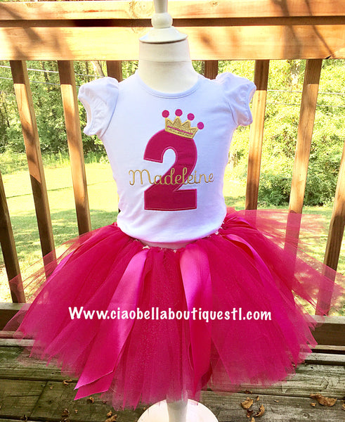Crown Birthday Shirt & Tutu Set - Ciao Bella Boutique