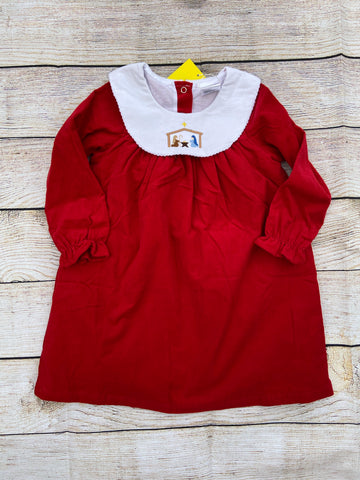 Nativity Scene Corduroy Dress