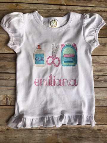 Vintage School Supply Shirt - Ciao Bella Boutique