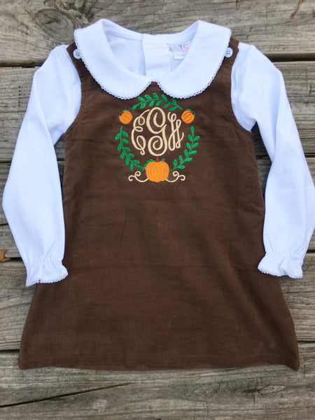 Corduroy Jumper - Brown - Ciao Bella Boutique