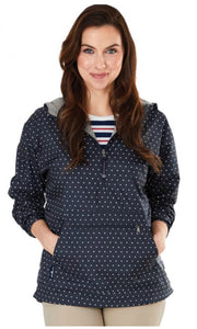 Women's Chantham Anorak Print - Navy with White Polka Dots - Ciao Bella Boutique