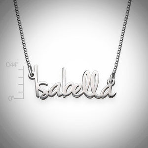 The Isabella Necklace - Tiny Name Necklace - Ciao Bella Boutique