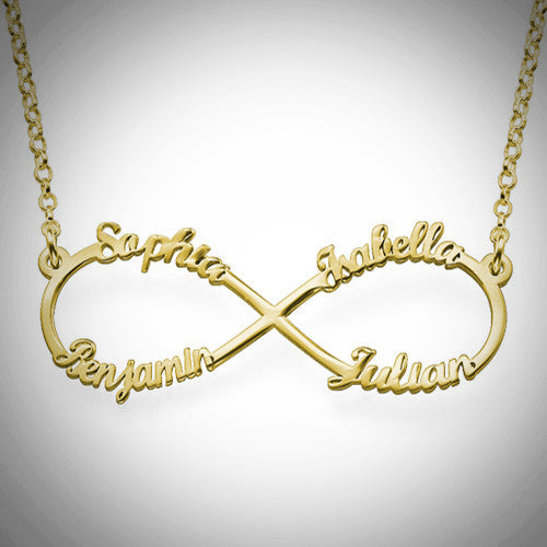 4 Name Infinity Necklace - Ciao Bella Boutique