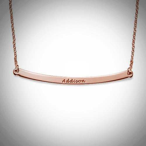Curved Bar Necklace - Ciao Bella Boutique